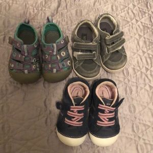 Baby Girl Shoes bundle - Sz 4 and 4.5